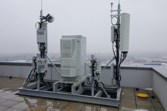 Installation of a base tower and internal antennas by the mobile phone operator MTS