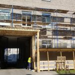 Начало работ по благоустройству фасада АО «Вертекс»